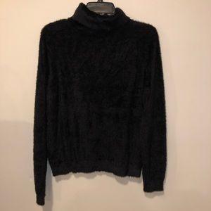 Halogen Fuzzy turtleneck sweater